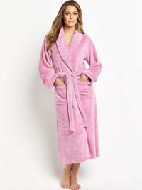 Fluffy Pink Dressing Gown