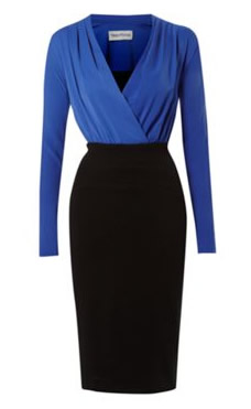 Mary Portas Antonio Shift Dress in blue and black