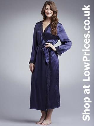 Silk Ladies Dressing Gown