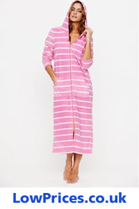 Ladies Zip Up Dressing Gowns