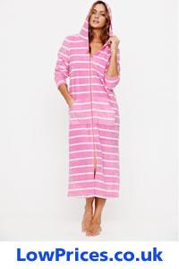 Ladies Zip Up Dressing Gowns